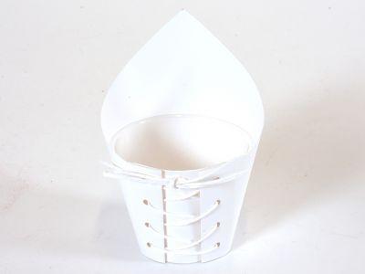 Bel papirnat ovitek z vrvico/12kos