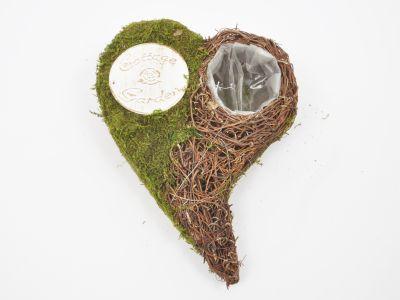 Posoda srce iz mahu h10cm