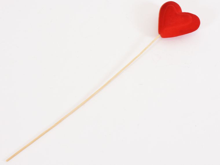 Srce na piku 6kos 8,3cm