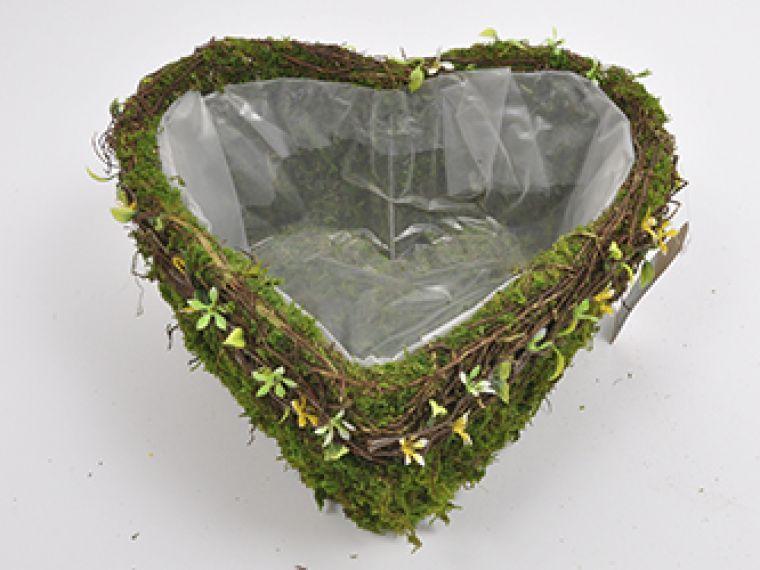 Posoda srce z rožicami h13cm